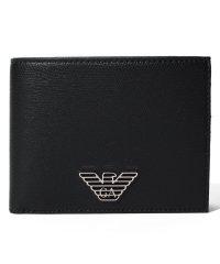 【EMPORIO ARMANI】Coin Purse Wallet Logo Plate