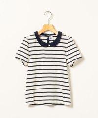 PETIT BATEAU:襟つき ボーダー Tシャツ