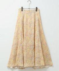 リネンペイズリーパネルフレアスカート