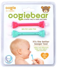 oogiebear ウーギーベア 赤ちゃんの鼻水・鼻くそ取り ウーギーベア お鼻掃除スコップ 2本入(ラズベリー/シーフォーム)