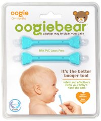 oogiebear ウーギーベア 赤ちゃんの鼻水・鼻くそ取り ウーギーベア お鼻掃除スコップ 2本入(ブルー/ブルー)