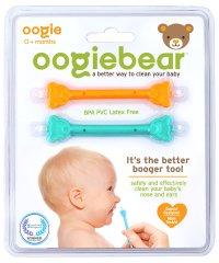 oogiebear ウーギーベア 赤ちゃんの鼻水・鼻くそ取り ウーギーベア お鼻掃除スコップ 2本入(オレンジ/シーフォーム)