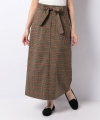 【WAREHOUSE】ウエストリボンチェックロングスカート