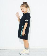 【★CONVERSE】フード付き半袖ワンピース(90~150cm)