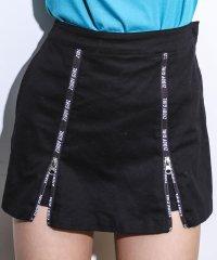 ストレッチツイルダブルジップスカートパンツ