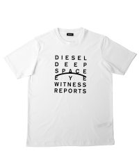 DIESEL T-JUST-J5 ディーゼル メッセージプリント Tシャツ 00S4EL-0091A