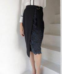 【WEB限定】アシメレースタイトスカート