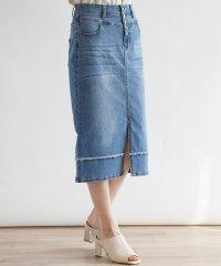 [soeur7] ストレッチデニム セミタイトスカート