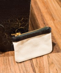 【W】LEATHER&CANVAS COIN CASE