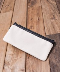 【W】LEATHER&CANVAS POUCH