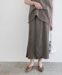 【セットアップ対応】【CAL O LINE】別注 ジャガードカットタイトスカート