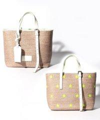 【NUR】ネオン刺繍ハンドバッグ
