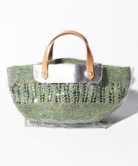 【ESTELLON】異素材かご編みトートバッグ