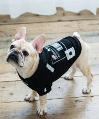 ドッグウェア 犬服 ペット プルオーバーパーカー ペーパーハンガー付き プリント リフレクター 反射材 愛犬 小型犬 中型 フレンチブルドッグ 綿 コットン 裏