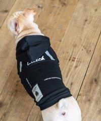 ドッグウェア 犬服 ペット プルオーバーパーカー ペーパーハンガー付き プリント ロゴ ボックス リフレクター 反射材 愛犬 小型犬 中型 フレンチブルドッグ