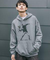 バンクシー Banksy パーカー メンズ レディース プルオーバー 裏起毛 スウェット ドロップショルダー ゆったり グラフィック ストリートアート カジュア
