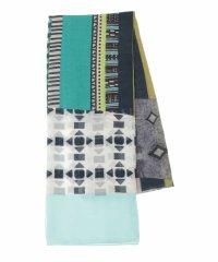 【洗える】ミックスカラーストライプデザインスカーフ