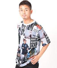 BIGTシャツ/Tシャツ メンズ 半袖 ビッグシルエット ガールズフォト コラージュ プリント