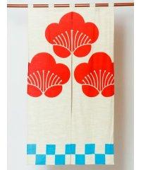 【カヤ】梅紋 長暖簾 7ISP0117