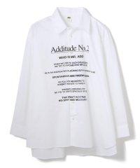 ADD SEOUL/アドソウル/ADDITUDE No.2 SHIRT/レタリングプリントシャツ