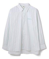ADD SEOUL/アドソウル/ADDITUDE No.1 AVANTGARDE/ロゴ刺繍ストライプシャツ