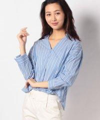 【WAREHOUSE】ストライプスキッパーカシュクールシャツ
