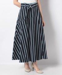 【WAREHOUSE】ベルト付きストライプコールスカート