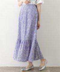 【WAREHOUSE】花柄ストレッチスカート