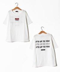 吸水速乾 ボックスロゴバックプリントTシャツ