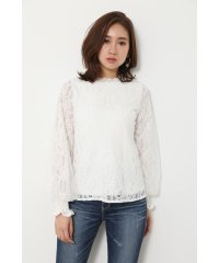 Lace on tulle SLV TOP