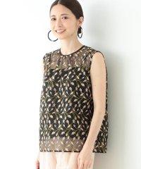 Demi-Luxe BEAMS / 刺繍 オーガンジー プルオーバー