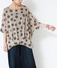 『nOr裾タックドット柄Tシャツ』