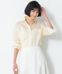 【マガジン掲載】シルクコットンストライプチュニックシャツ(番号H32)