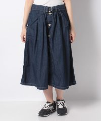 BUTTON FLARE SKIRT RHODE BLUE