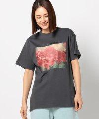 フラワーテンシャプリントロゴTシャツ