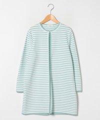 【大きいサイズ】配色ボーダーロング ニットジャケット