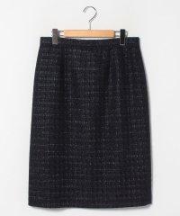 【大きいサイズ】【セットアップ対応】 ファンシーラメツイード タイトスカート