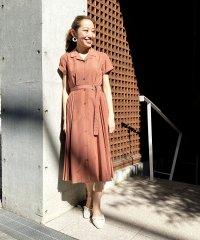 【美人百花6月号掲載】サイドプリーツシャツワンピース