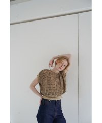 DOT JACQUARD RIB TOPS