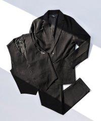 テーラードジャケット スラックス イージーパンツ ベスト ジレ カジュアルスーツ メンズ TR素材 ストレッチ 伸縮性 フォーマル 無地 グレンチェック 3ピー