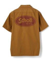 Schott/ショット/TC WORK SHIRT OVAL LOGO/TCワークシャツ オーバルロゴ