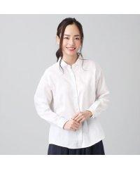 シャツ カジュアル 長袖 形態安定 ガーゼ レギュラー衿 綿100% レディース