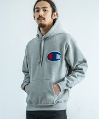 パーカー メンズ スウェット 長袖 Champion チャンピオン ACTION STYLE アクションスタイル サガラ刺繍 ロゴ 裏起毛 防寒 暖かい フード