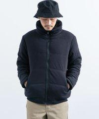 中綿ジャケット メンズ アウター ブルゾン フェイクダウン ポンチ素材 シンプル ジャージ カジュアル ボリュームネック 防風 防寒 保温 5207