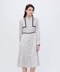 小紋 ロングドレス
