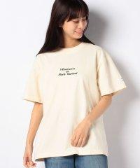 【mont kemmel】胸元刺繍ロゴビンテージライクTシャツ
