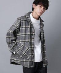 ジャケット メンズ シャツ ライトアウター カバーオール チェック ビッグサイズ オーバーサイズ カジュアル 暖かい Ressaca レサーカ 9163