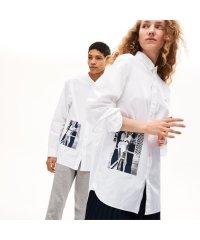 ユニセックス プリントデザインボタンダウンシャツ