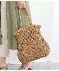 ペーパー柄編みトートバッグ