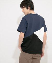 ポンチブロックドTシャツ(5分袖)